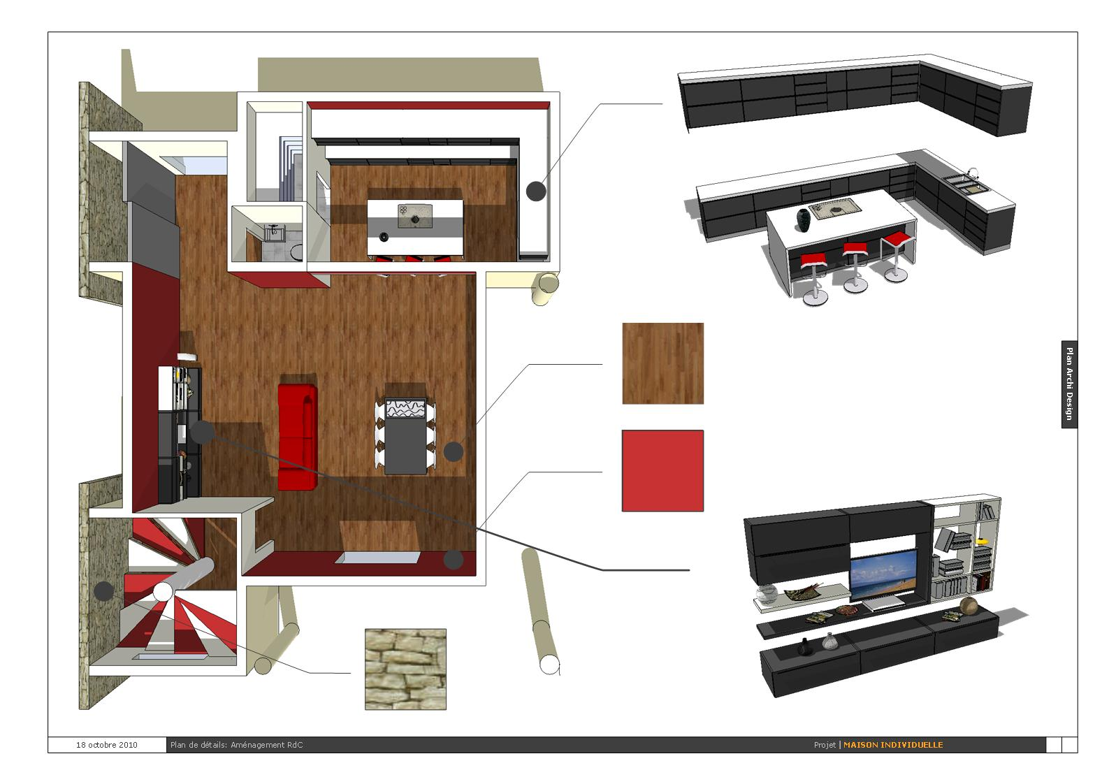 Projet de la maison individuelle fini conception for Projet maison individuelle